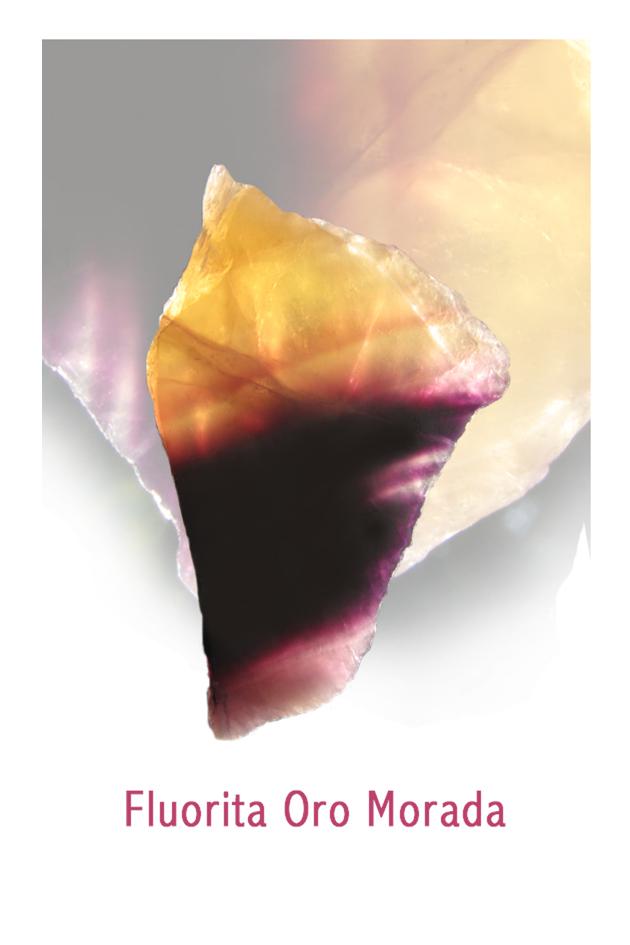 Fluorita Oro Morada